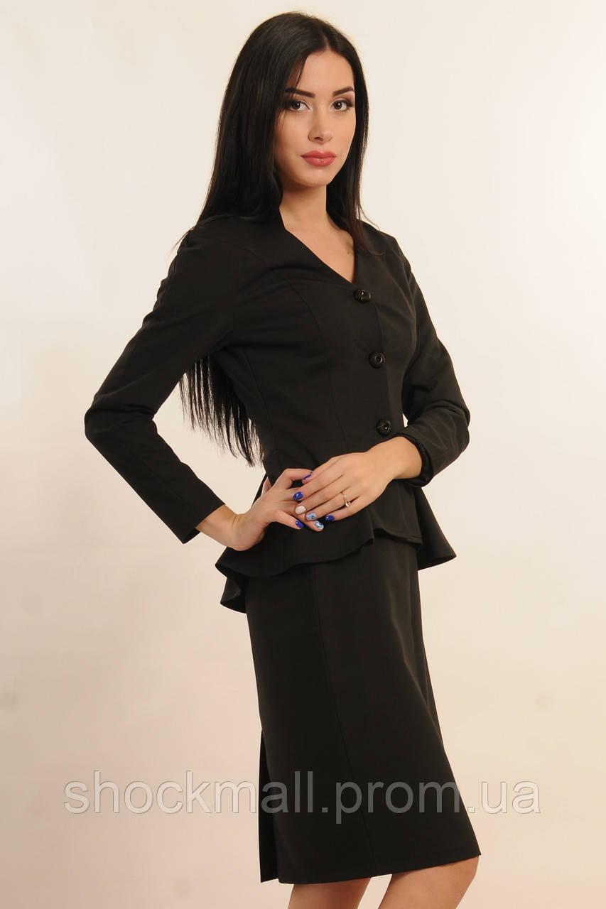789f1cdc2 Купить Женский пиджак с баской черный