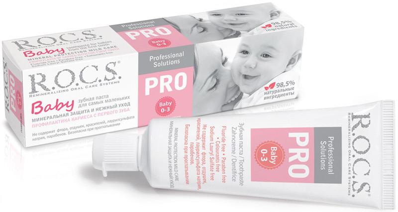Зубная паста R.O.C.S. PRO BABY (0-3), 45г