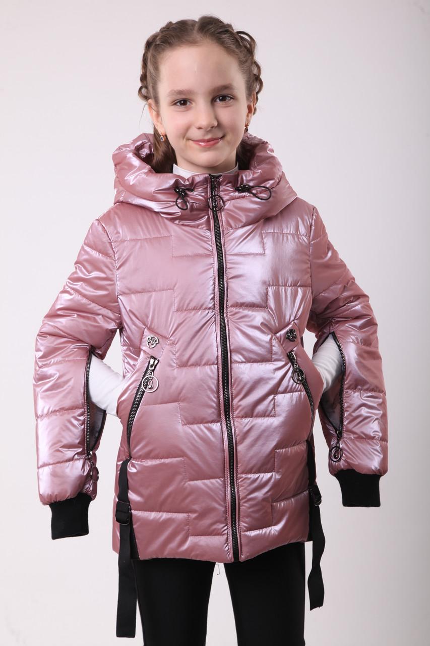 Куртка для дівчинки на весну 36-44 пудра