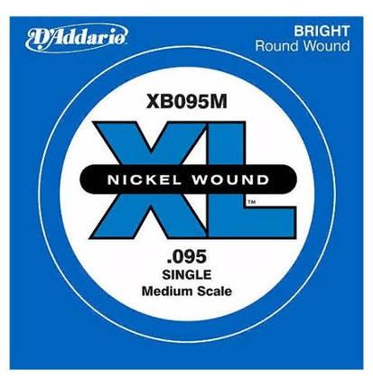 1 Струна .095 для бас-гитары D`ADDARIO XB095M XL Nickel Wound Medium Scale 095, фото 2