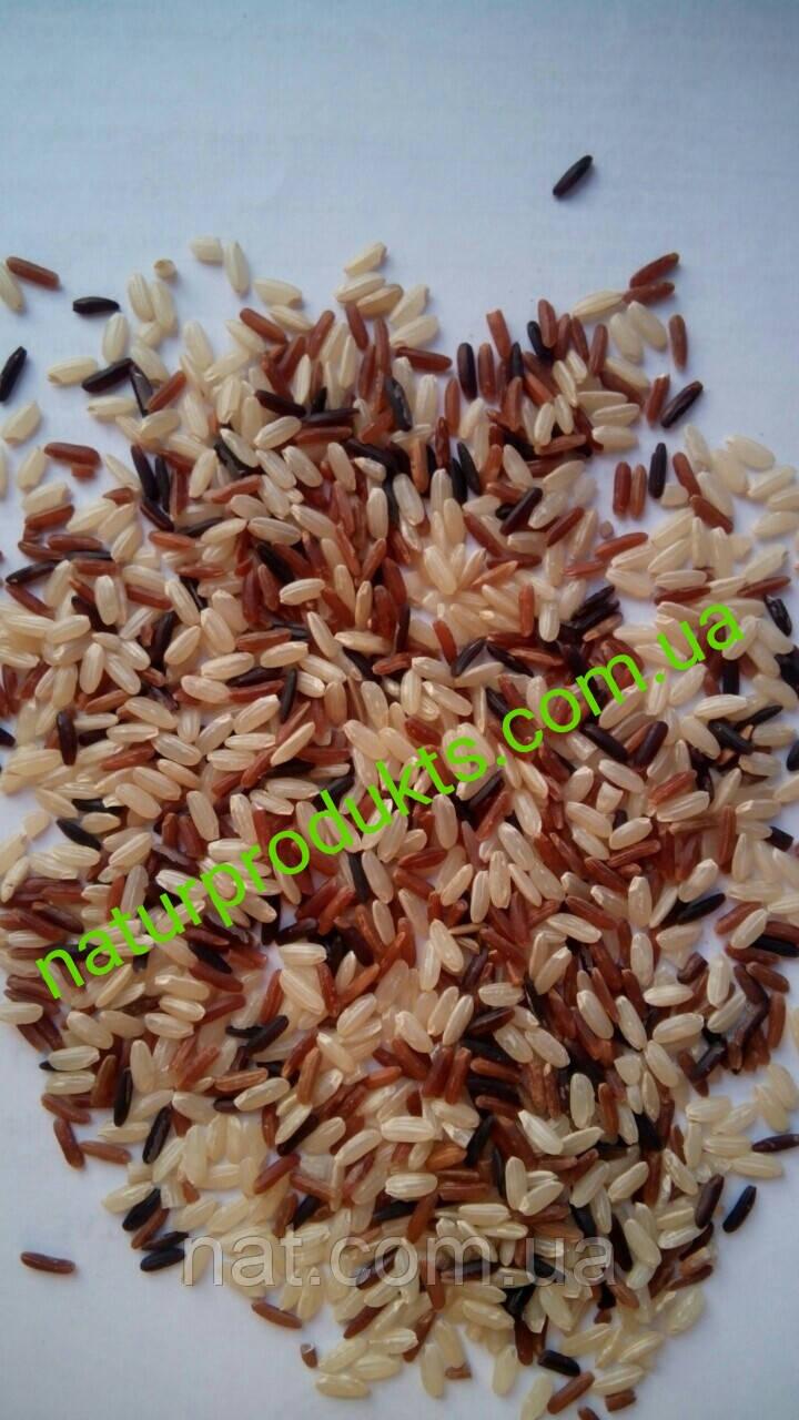 Рис красный, бурый, черный (смесь), 500г