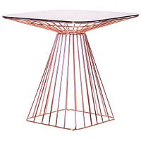 Стол Tern, rose gold, glass top (AMF-ТМ)
