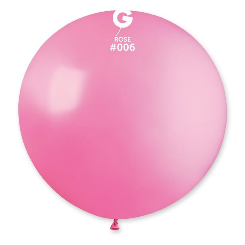 """Шар 31"""" (80 см) Gemar пастель 06 розовый (Джемар)"""