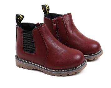 Бордовые детские ботинки Детские ботинки на осень Деми ботинки детские