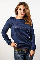 Джемпер, кофта хлопковая темно-синий размер 46-48