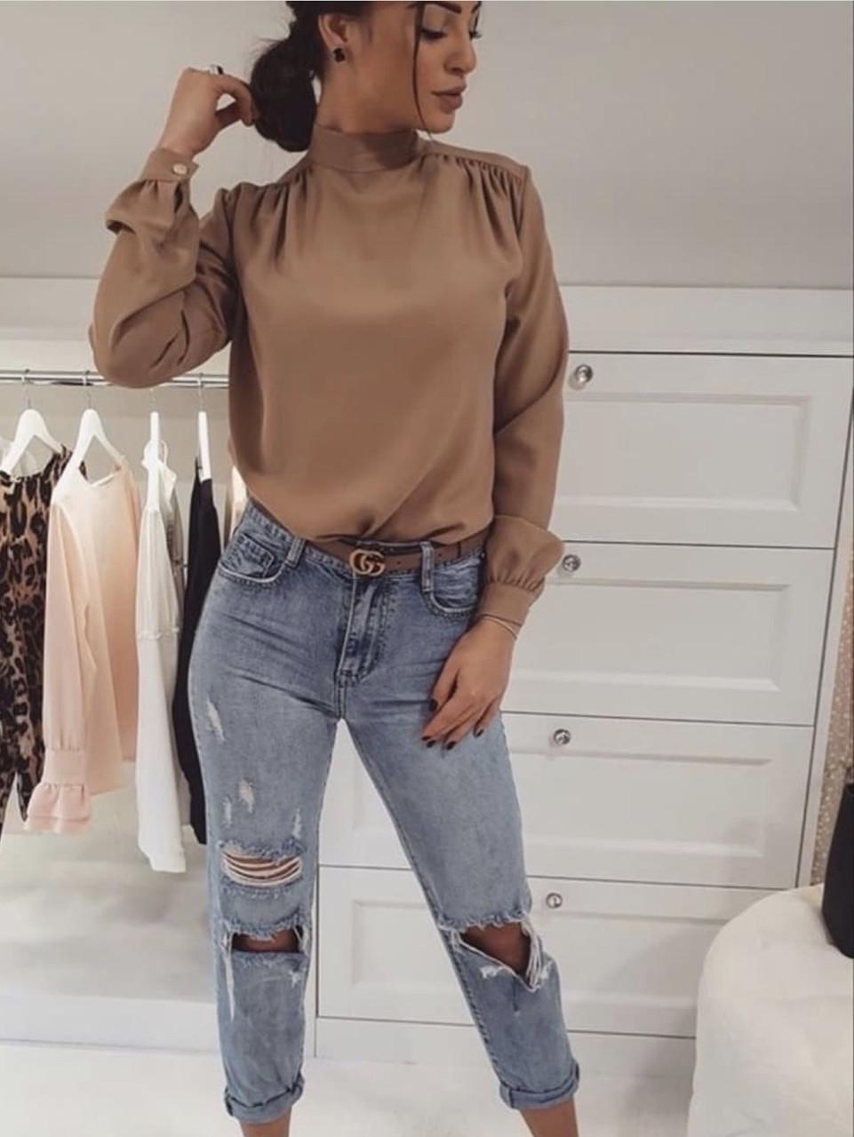 Блуза цвета Мокко
