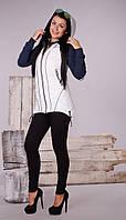 Женская осенняя жилетка-парка с капюшоном., фото 1