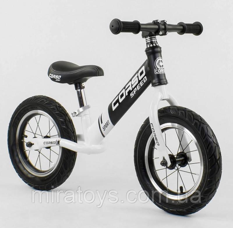 ✅Дитячий велобіг від (беговел) CORSO 10234, сталева рама, надувні колеса
