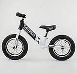 ✅Дитячий велобіг від (беговел) CORSO 10234, сталева рама, надувні колеса, фото 3