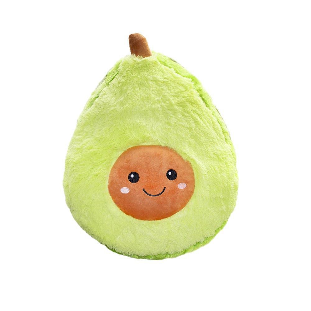 """Мягкая детская плюшевая игрушка """"Авокадо"""" в стиле ИКЕА, подушка-антистресс из флиса 25 cм"""