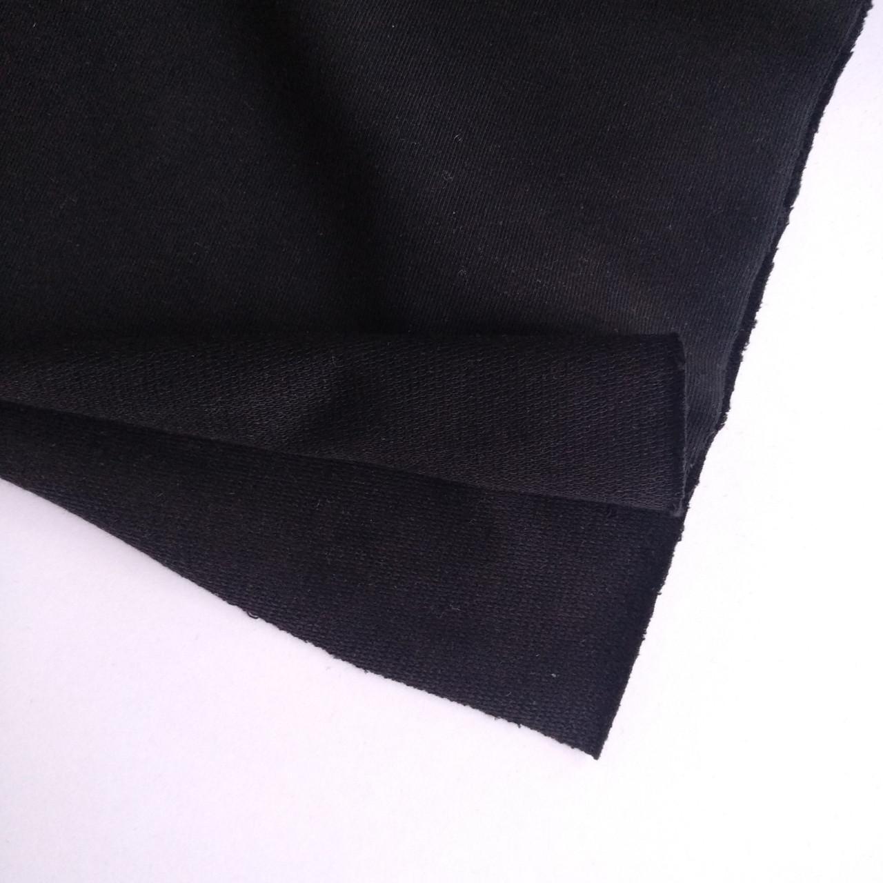 купить ткань футер и кашкорсе черный в нашем магазине