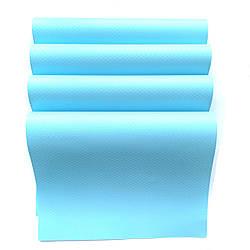 Антибактериальный коврик для холодильника ( набор 4 шт) голубой