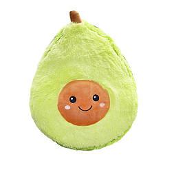 """Мягкая детская плюшевая игрушка """"Авокадо"""" в стиле ИКЕА, подушка-антистресс из флиса 30 cм"""