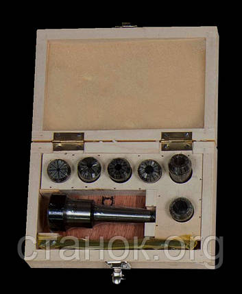 Zenitech ER 25 комплект цанг 6 шт. + патрон MT 2, цанги, фото 2