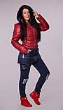 Куртка женская молодежная осенняя стеганная., фото 4