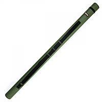 Тубус для удилищ Fisher ∅10х140 см с плечевым ремнем, зеленый