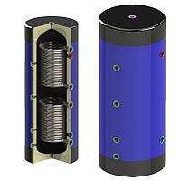 Теплоаккумулятор Werden1500 с утеплителем и двумя змеевиками