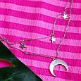 Серебряное колье-оберег Лунница - Колье привлекательности Луна и звезды, фото 5