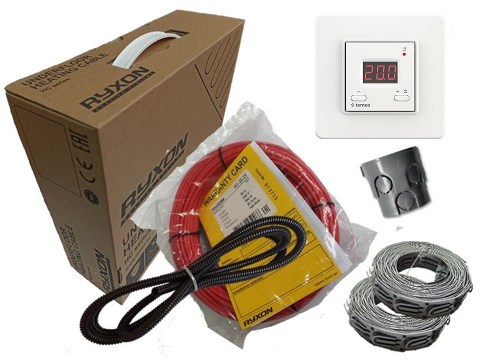 Для любых типов напольного покрытия Ryxon HC-20 нагревательный кабель в стяжку (2.5 м.кв) 500 вт Terneo ST