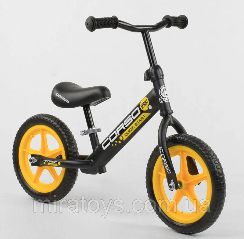 """✅Дитячий велобіг від (беговел) CORSO 15004, сталева рама, колесо 12"""" EVA (ПІНА)"""