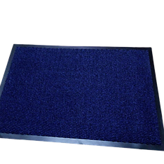 Коврик грязезащитный Leyla 35 см 60*40 синий