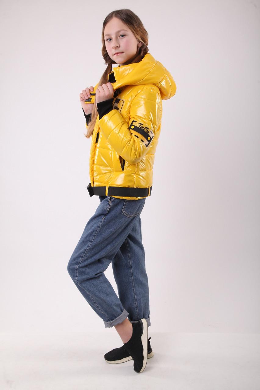 Куртка для дівчинки на весну 36-44 жовта