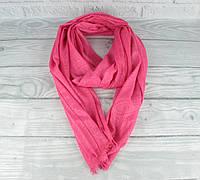 Невесомый, воздушный шарфик, палантин Etro 0009-3 розовый, бамбуковая вискоза