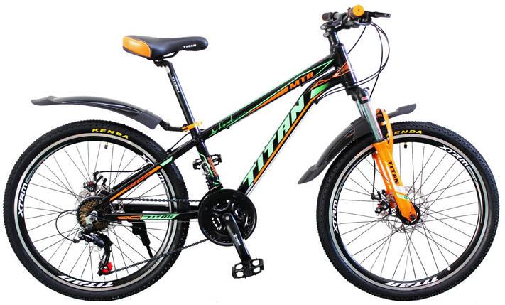 """Горный алюминиевый подростковый велосипед 24"""" TITAN ATLANT DD, фото 2"""