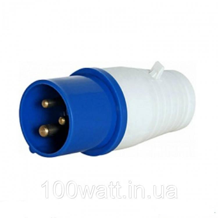 Вилка силова 013 2Р+РЕ 16А 380В IP44 GAV 513
