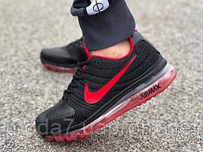 Кроссовки мужские черные Nike air max  реплика, фото 2
