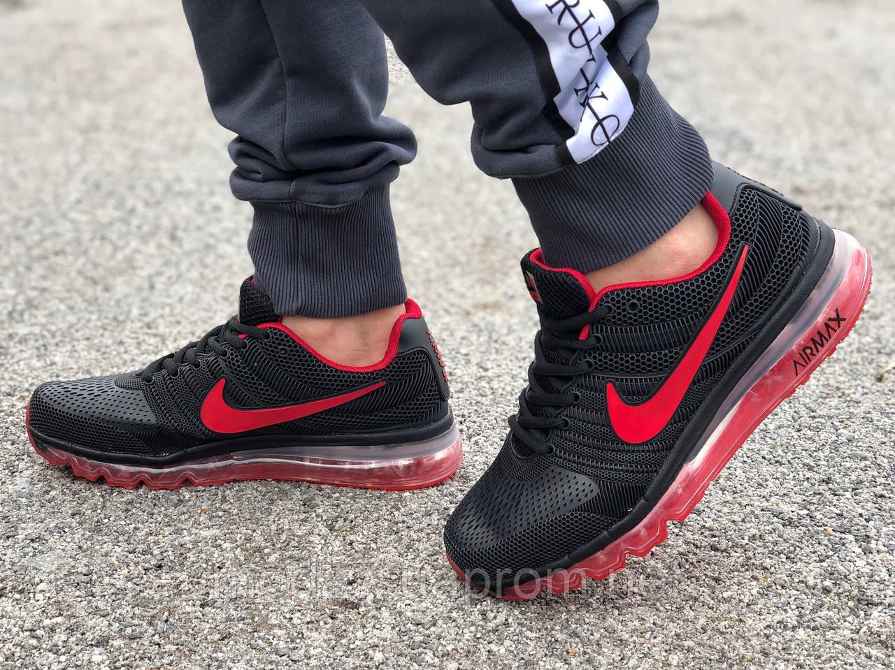Кроссовки мужские черные Nike air max  реплика