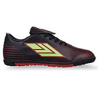 Сороконожки обувь футбольная Zelart, верх-PU, подошва-RB, р-р 39-44, черный (308-5-(blk))