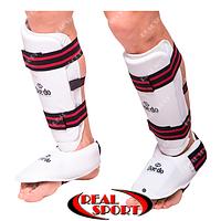 Захист гомілки з футами для єдиноборств Dae Do BO-5074-VI-W, біла, фото 1