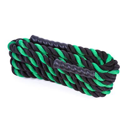 Канат для кроссфита IronMaster (L=15 м, d=3,8 см), черно-зеленый