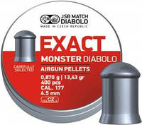 Свинцовые пули JSB Diabolo Exact Monster 0.87 г 400 шт