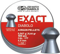 Пули пневматические JSB Diabolo Exact. Кал. 4.51 мм. Вес - 0.547 г. 500 шт/уп