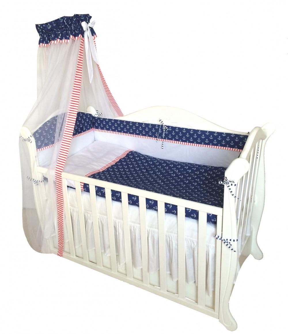 Детская постель Twins Premium P-011 Sailor 7 ел + БЕСПЛАТНАЯ ДОСТАВКА -  Интернет магазин 5e11a9d63431e
