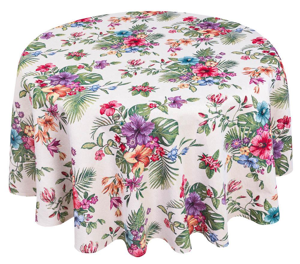Скатерть тканевая гобеленовая пасхальная круглая Ø200 см на круглый стол