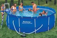 Каркасный бассейн BestWay 56259 (366х122 см) + песочный насос
