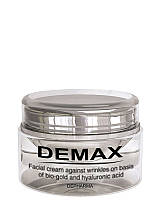 Крем для лица против морщин на основе био-золота и гиалуроновой кислоты 100 мл. Demax