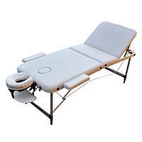 Массажный стол складной ZENET  ZET-1049 WHITE размер M ( 185*70*61)