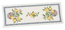 Наперон гобеленовый тканевый дорожка на стол раннер лимоны 37 х 100 см