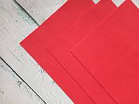 Фетр мягкий листовой красный (1,2 мм), 20*30 см, Корея