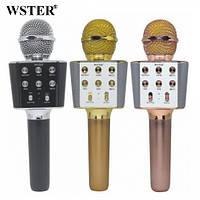 Оригинальный беспроводной караоке микрофон Wster WS-1688 - колонка 2 в 1