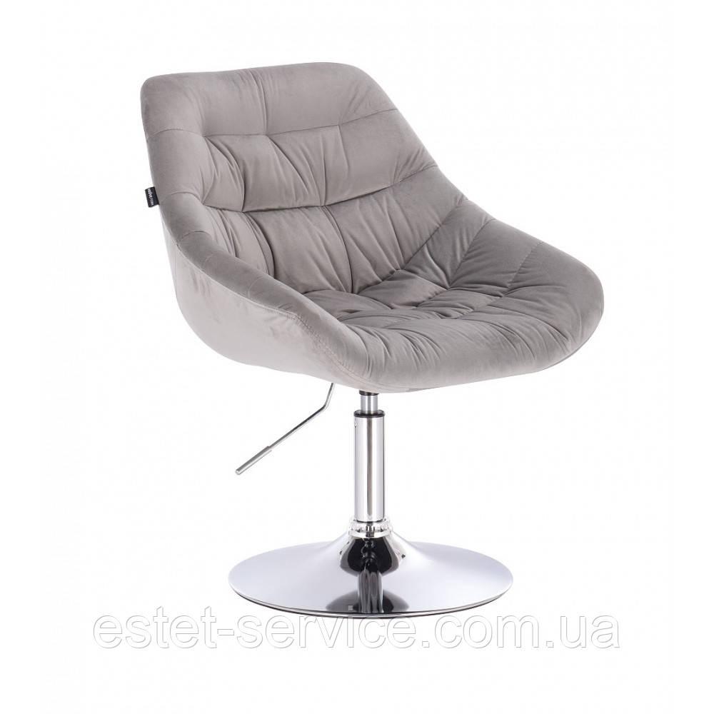Кресло клиента HROVE FORM HR825 на низкой барной основе в ЦВЕТАХ велюр