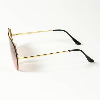 Оптом солнцезащитные очки авиатор (арт. 80-665/4) светло-коричневые, фото 2