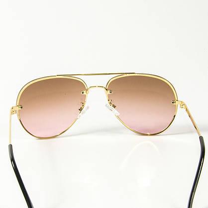 Оптом солнцезащитные очки авиатор (арт. 80-665/4) светло-коричневые, фото 3