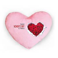 Светящаяся подушка Women's day (розовая)