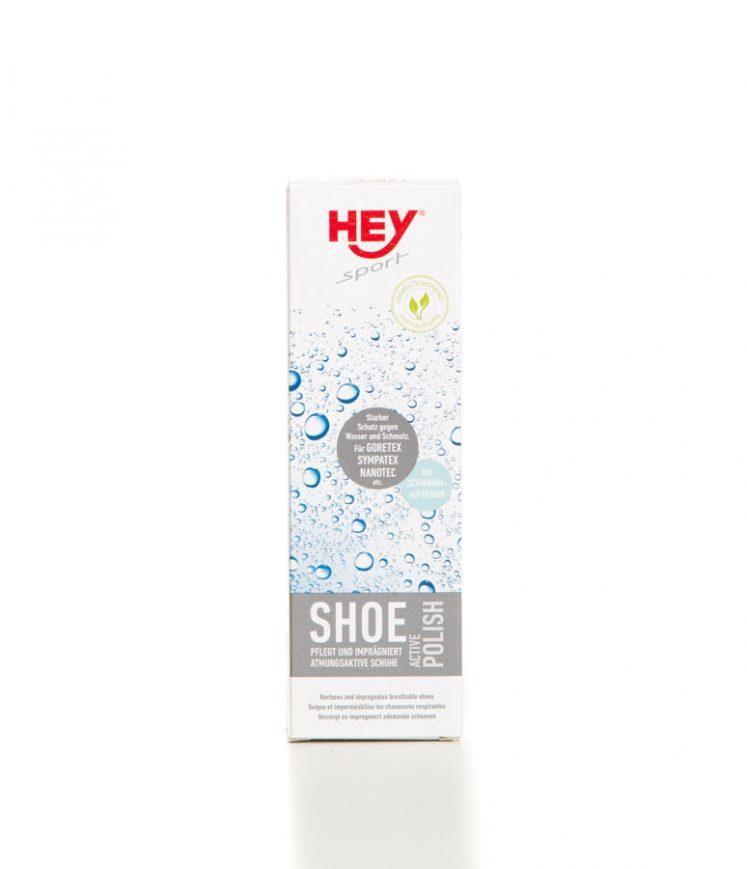 Засіб для пропитки Hey-Sport ACTIVE POLISH (чорний) 75 мл. Пропитка для коженой обуви