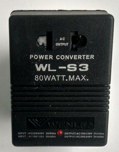 Адаптер WL-S3 з переключателем 110V/220V (80W)